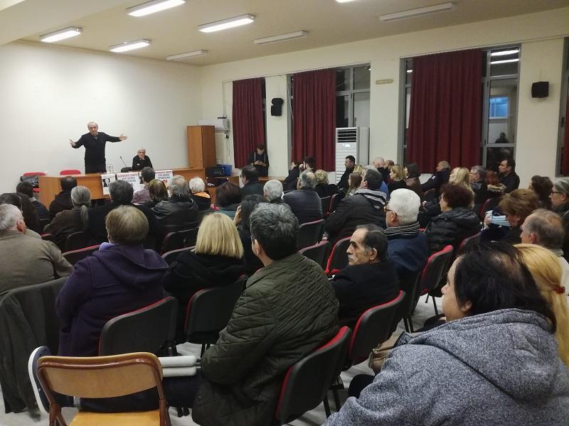 Με επιτυχία πραγματοποιήθηκε η εκδήλωση της ΛΑΕ Πετρούπολης με τον Νίκο Χουντή