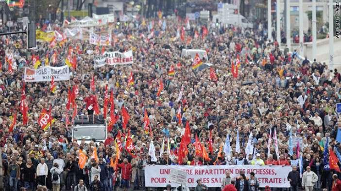 Αλληλεγγύη της ΛΑΕ στις κινητοποιήσεις εργατών και φοιτητών στην Γαλλία.