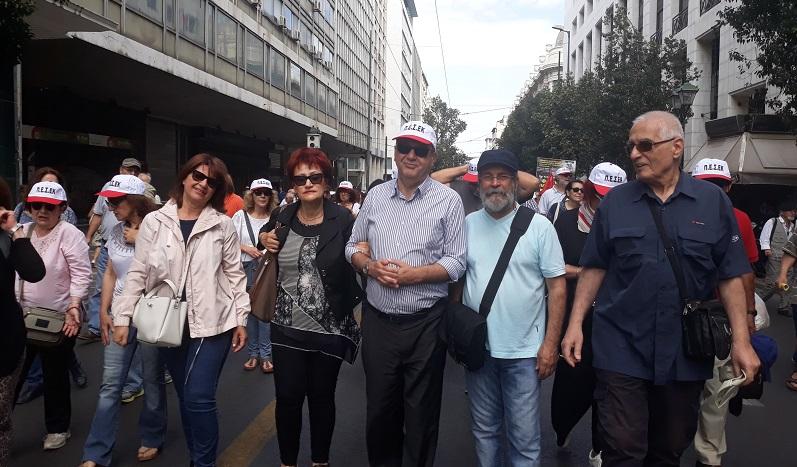 Αντιπροσωπεία της ΛΑΕ στη μαζική και δυναμική συγκέντρωση των συνταξιούχων