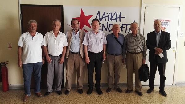 Συνάντηση Παν. Λαφαζάνη με την Ανώτατη Γενική Συνομοσπονδία Συνταξιούχων Ελλάδας
