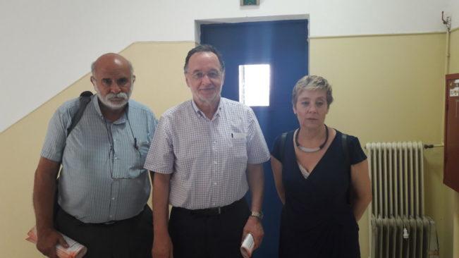 Οι Παναγ. Λαφαζάνης, Γρηγ. Καλομοίρης και Μάνια Μπαρσέφσκι επισκέφτηκαν τον κρατούμενο απεργό πείνας Τουργκούτ Καγιά στο Νοσοκομείο Νίκαιας