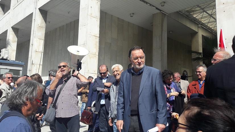 Κάλεσμα στη συγκέντρωση διαμαρτυρίας και αλληλεγγύης στον Παν. Λαφαζάνη και στους διωκόμενους αγωνιστές.