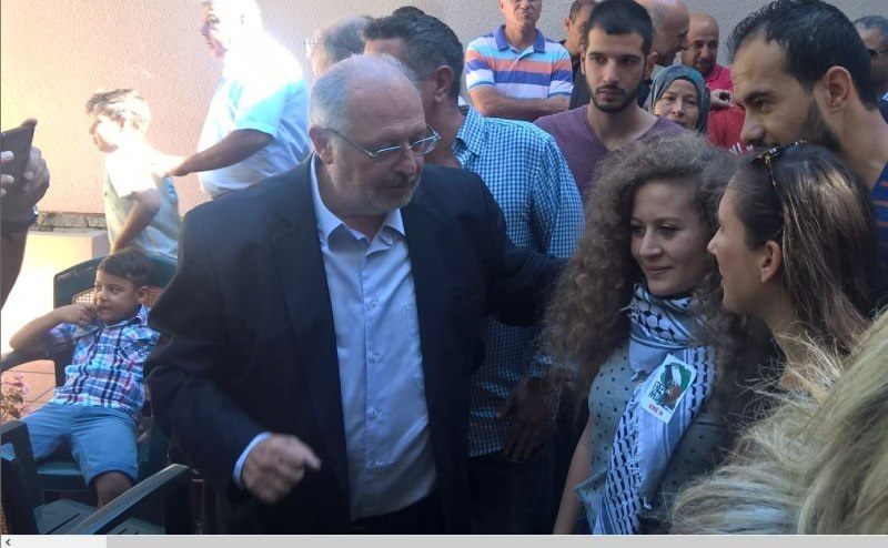 Συνάντηση της ΛΑ.Ε. με το σύμβολο του Παλαιστινιακού αγώνα Αχέντ Ταμίμι