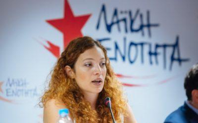 Μαριάννα Τσίχλη: «Οι διώξεις των αγωνιστών δεν μας τρομοκρατούν.»