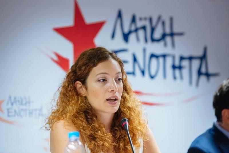 """Μαριάννα Τσίχλη: """"Οι διώξεις των αγωνιστών δεν μας τρομοκρατούν."""""""