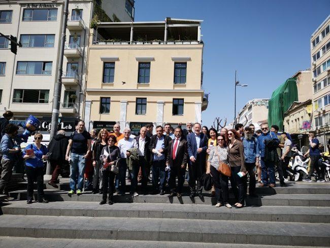 Περιοδεία Παν. Λαφαζάνη και υποψηφίων Λαϊκής Ενότητας στην Αθήνα