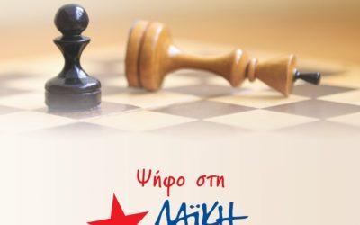 Πέμπτη 4 Ιουλίου, 20:30, η κεντρική εκδήλωση της Λαϊκής Ενότητας στην Πάτρα